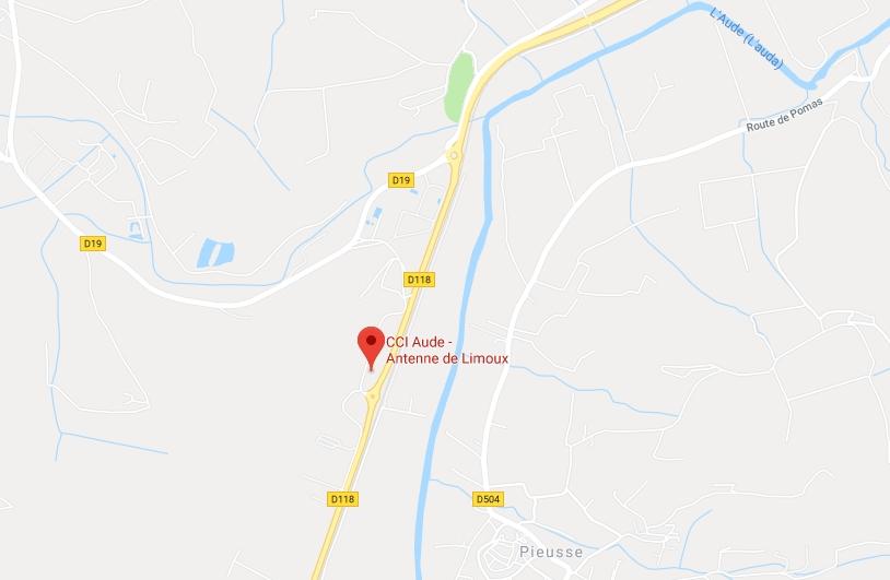 antenne CCI Limoux pépinière ERECO Google Maps