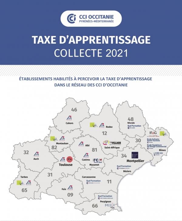 2021 - Taxe apprentissage - établissements CCIO