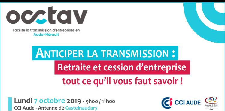 Occtav : Anticiper la transmission le 7 octobre 2019