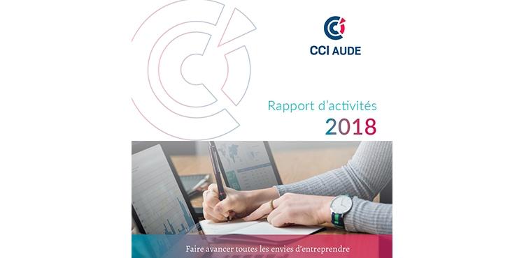 couverture rapport activités 2018 cci aude