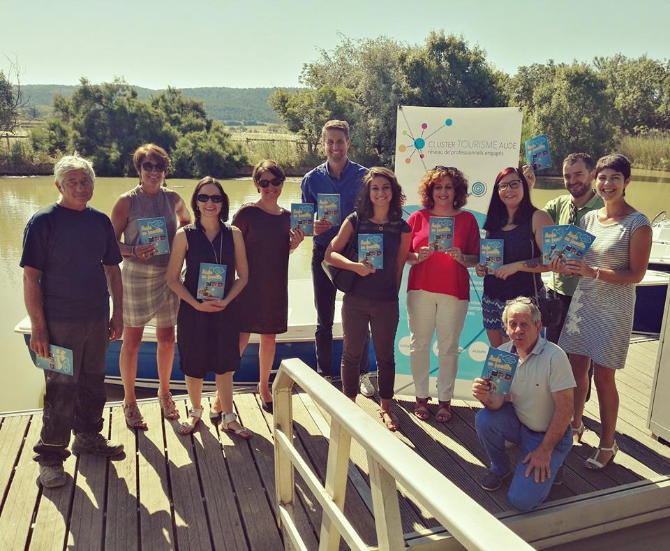 Lancement brochure Aude en Famille le 26 juin 2018 au Domaine Sainte-Marthe à Narbonne