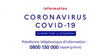 Coronavirus plate forme téléphonique gratuite