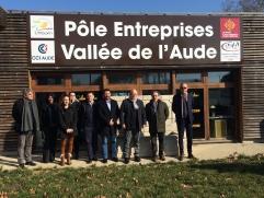 Présentation presse pole entreprise vallée Aude fevrier 2019 Pieusse